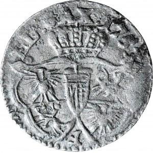 RRR-, August III Sas, Szeląg 1753, F odwrócone, AUGUSTUS