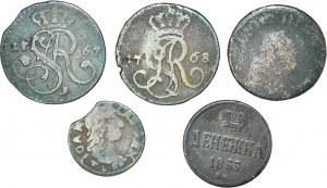 Zestaw 5 monet miedzianych