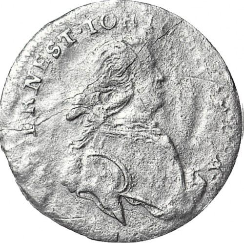 R-, Kurlandia, Ernest Jan Biron, Trojak 1764 IFS, Mitawa, R4