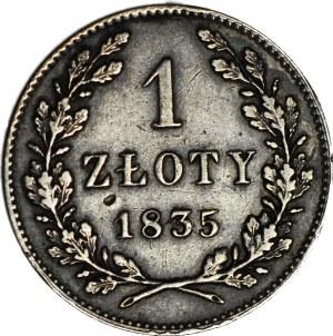 Wolne Miasto Kraków, 1 złoty 1835, ładne