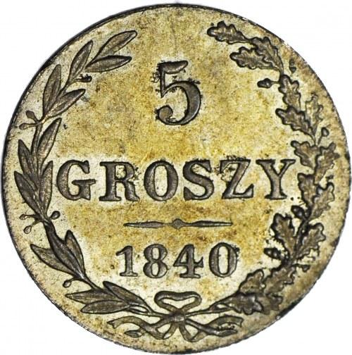 Królestwo Polskie, 5 groszy 1840, mennicze