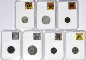 Zestaw 7 szt. monet Zygmunt III Waza, SAP, XIX wiek
