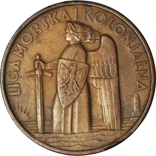 Medal, Liga Morska i Kolonialna 1935, 15-lecie odzyskania morza