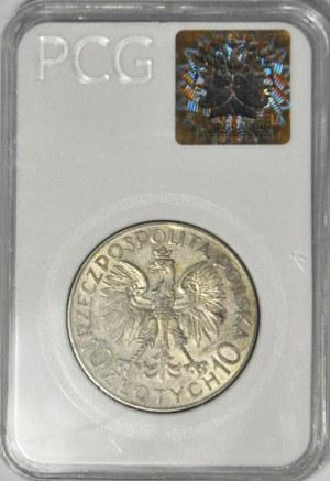 10 złotych 1933, Sobieski, piękny