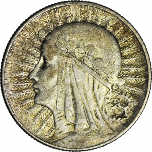5 złotych 1933, Głowa
