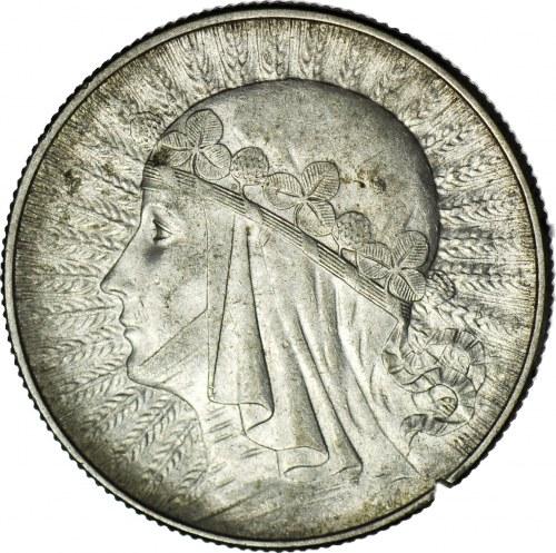 5 złotych 1934, Głowa, piękny