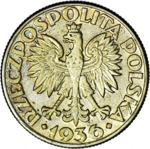 2 złote 1936, Żaglowiec, piękny