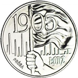 20 złotych 1980, PRÓBA, nikiel, Łódź 1905