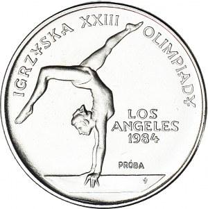 500 złotych 1983, PRÓBA, nikiel, Igrzyska Los Angeles - gimnastyka