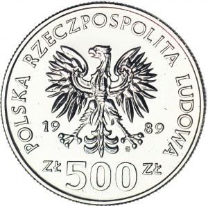 500 złotych 1989, PRÓBA, nikiel, Rocznica Wojny Obronnej