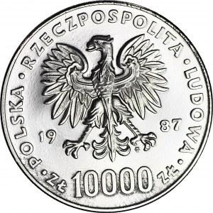 10000 złotych 1987, PRÓBA, nikiel, Jan Paweł II