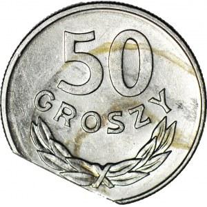 50 groszy 1986, DESTRUKT, końcówka blachy
