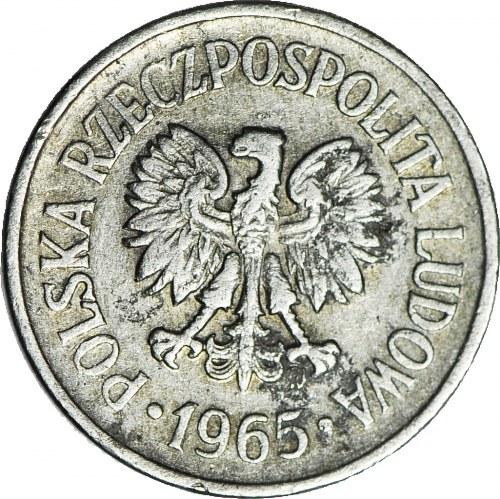 10 groszy 1965, DESTRUKT, wykruszenie stempla w O w groszy