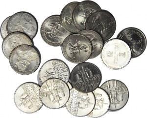 Zestaw 21 szt. monet 500 zł 10.000 zł
