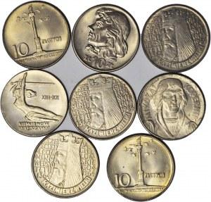Zestaw 8 szt. monet 10 zł