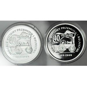 Zestaw 2 szt. Medale 2009, srebro 500, Częstochowa