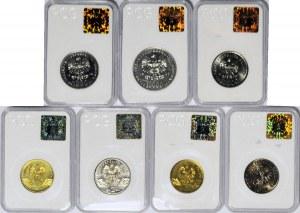 Zestaw 7 szt. ciekawy zestaw monet PRL i III RP
