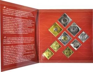 Zestaw klipy monet podenominacyjnych - 10 lat w obiegu