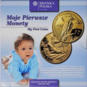 Zestaw monet obiegowych - pierwsze monety podenominacyjne
