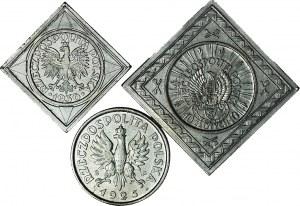 Zestaw 3 szt., współczesne kopie rzadkich monet II RP