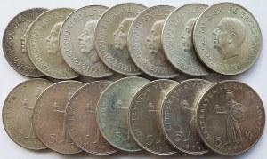 Srebro, Zestaw 20 sztuk monet Szwecja 5 koron 1962, Gustaw VI Adolf, 80 urodziny
