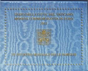 Watykan, Benedykt XVI, 2 euro 2012, Rzym, 7 Światowe Spotkanie Rodzin
