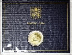 Watykan, Franciszek 2013-, 2 euro 2014, Rzym, Mur Berliński