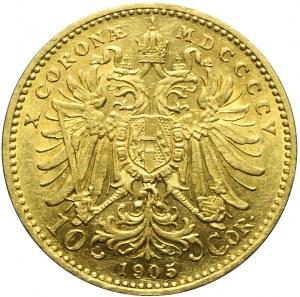 Austria, Franciszek Józef, 10 koron 1905, Wiedeń