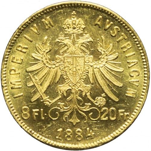 Austria, Franciszek Józef, 8 florenów 1884
