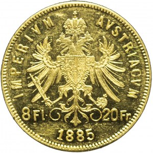 Austria, Franciszek Józef, 8 florenów 1885