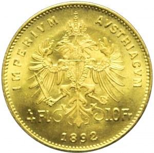 Austria, Franciszek Józef, 4 floreny 1892, nowe bicie
