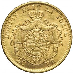 Belgia, Leopold II Koburg, 20 franków 1870