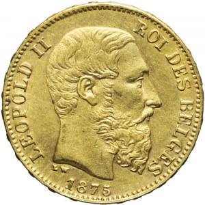 Belgia, Leopold II Koburg, 20 franków 1875