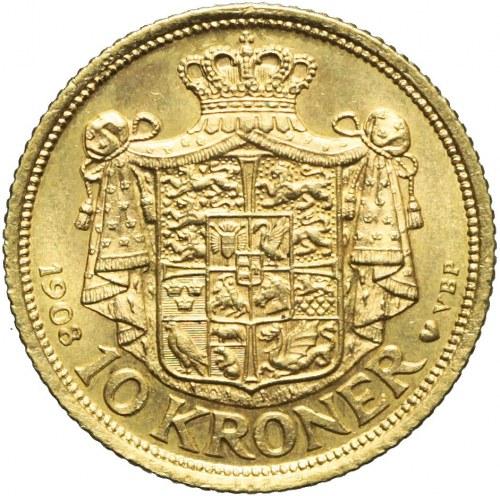 Dania, Fryderyk VIII, 10 Koron 1908