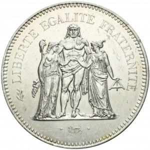 Francja, V Republika, 50 franków 1974, Herkules