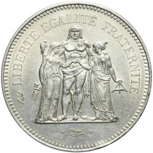 Francja, V Republika, 50 franków 1975, Herkules
