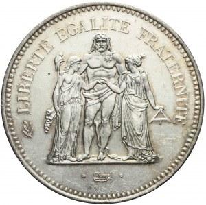Francja, V Republika, 50 franków 1977, Herkules