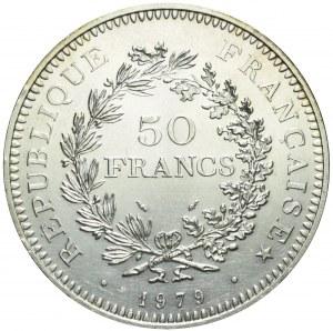 Francja, V Republika, 50 franków 1979, Herkules