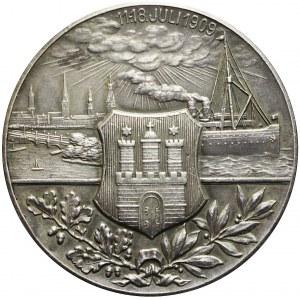 Niemcy, Hamburg, Medal XVI ZAWODY STRZELECKIE, 1909