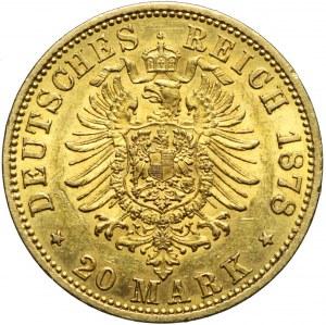 Niemcy, Prusy, 20 marek 1878 A, Wilhelm I, Berlin