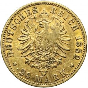 Niemcy, Prusy, 20 marek 1882 A, Wilhelm I, Berlin