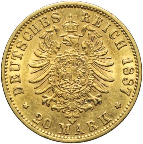 Niemcy, Prusy, 20 marek 1887 A, Wilhelm I, Berlin