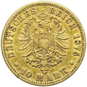Niemcy, Prusy, 10 marek 1875 A, Wilhelm I, Berlin