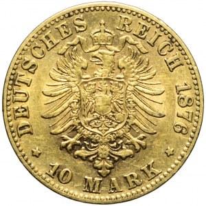Niemcy, Wirtembergia, Karol I, 10 marek 1876 F, Stuttgart