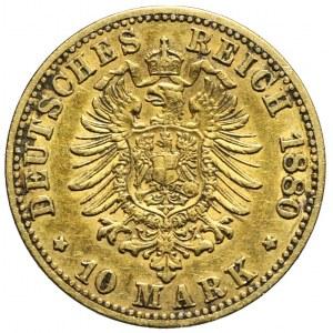 Niemcy, Prusy, 10 marek 1880 A, Berlin, Wilhelm I