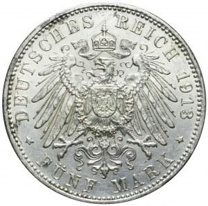 Niemcy, Bawaria, 5 marek 1913 D, Otto, Monachium