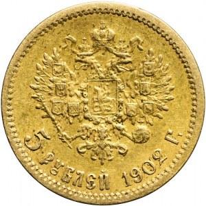 Rosja, Mikołaj II, 5 rubli 1902