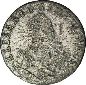 R-, Rosja - okupacja Prus, Elżbieta 1741-1761, Szóstak 1761, Królewiec