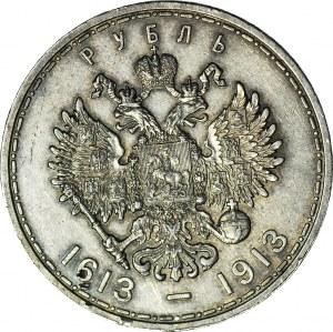 Rosja, Rubel 1913, Mikołaj II, Petersburg, 300-lat dynastii Romanowych