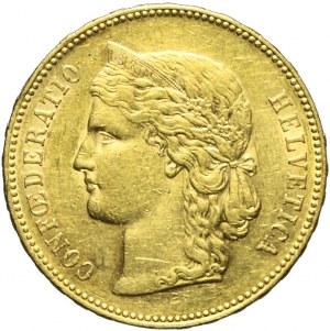 Szwajcaria, 20 franków 1890 B, Berno